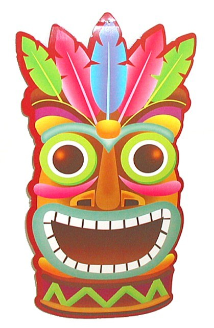 419x643 1) Pk 8 Luau Tiki Decor ~ Party Wall Hangings 11 X 7 Luau