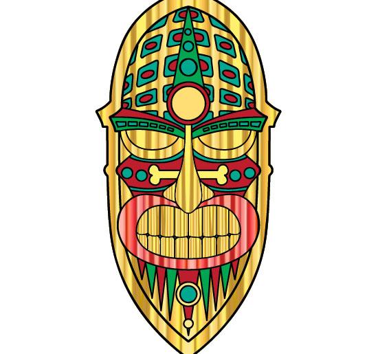 550x515 Hawaii Clipart Tiki Mask