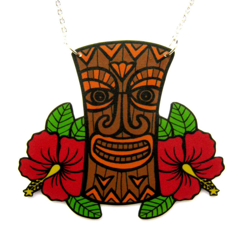 830x823 Hawaiian Tiki Clip Art