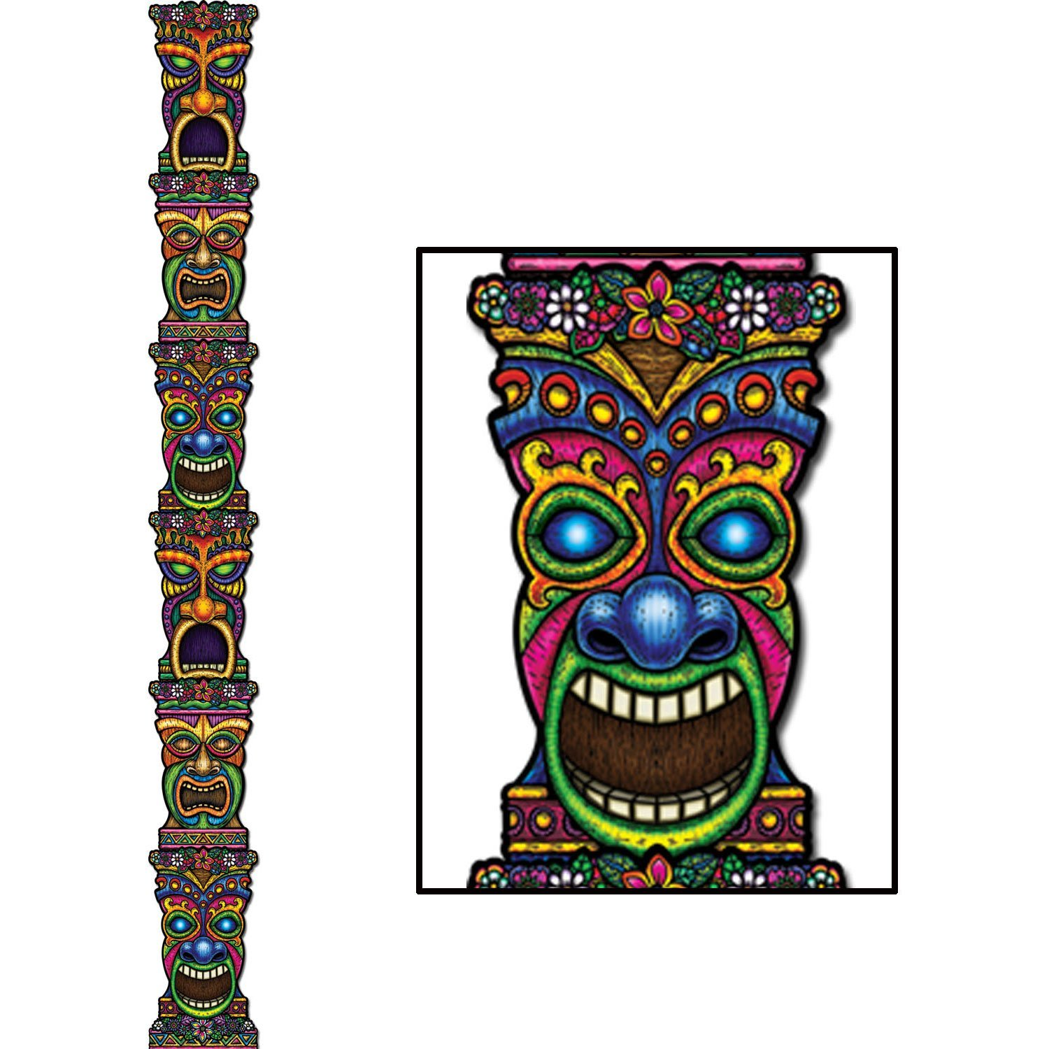 1500x1500 Jointed Tiki Totem Pole Party Accessory (1 Count) (1