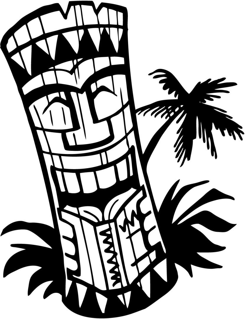830x1083 Border Tiki Clipart