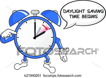 450x330 Clipart Of Alarm Clock Change To Daylight Saving Time K21940201