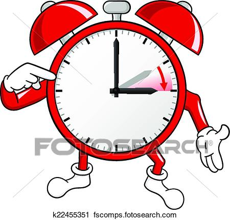 450x430 Clipart Of Alarm Clock Change To Daylight Saving Time K22455351