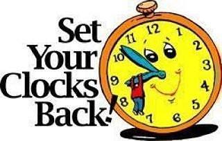 320x204 Fall Back Clock Clipart