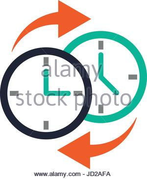 300x366 Two Clocks Time Zone Change Icon Image Stock Vector Art