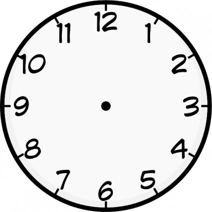 425x425 Clock Clip Art Free Clipart Images 4