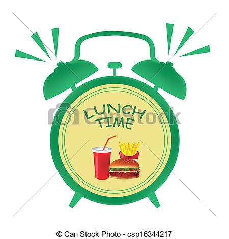 450x470 Clock Clipart Lunch Time