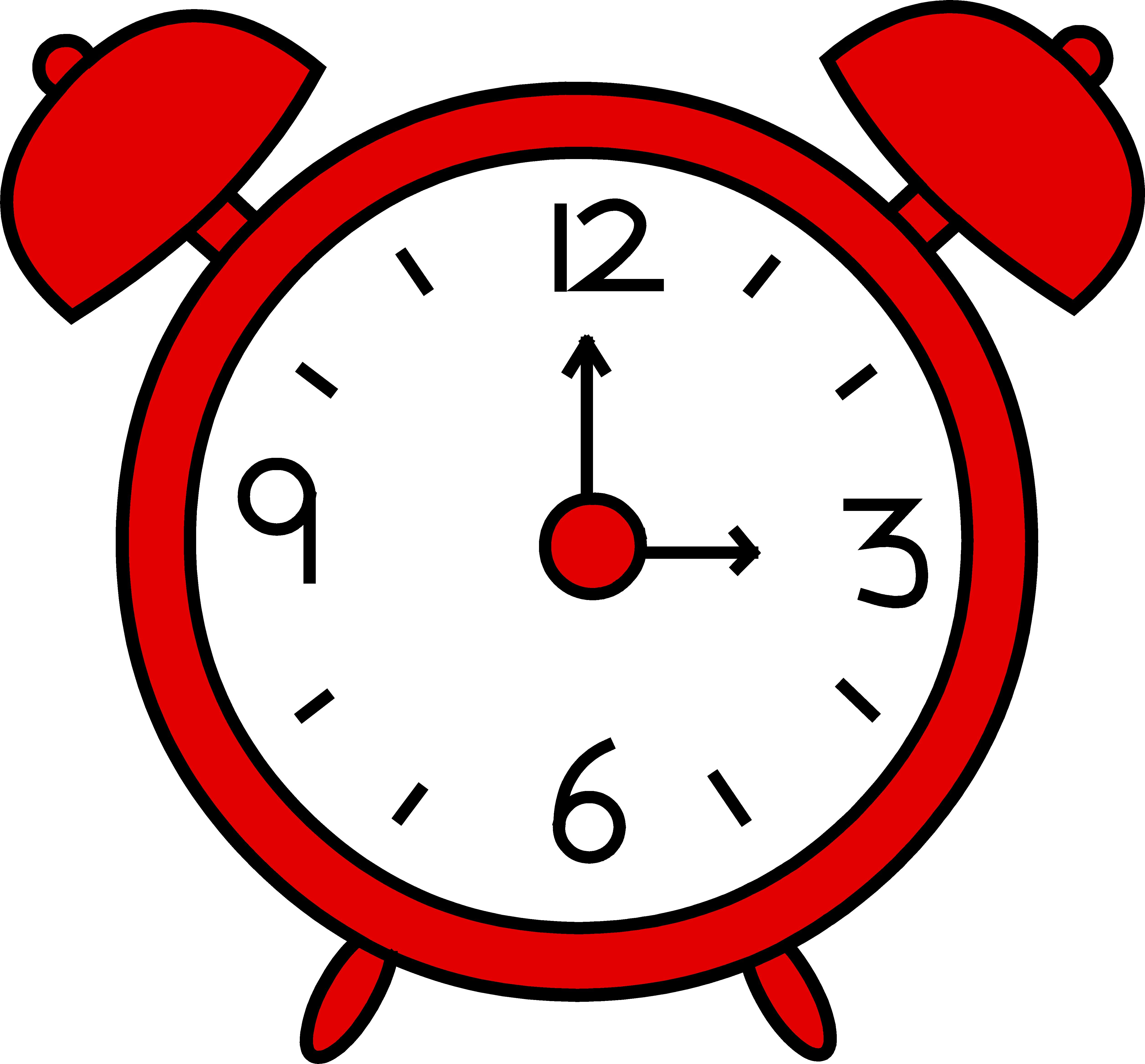 5026x4669 Red Alarm Clock Design