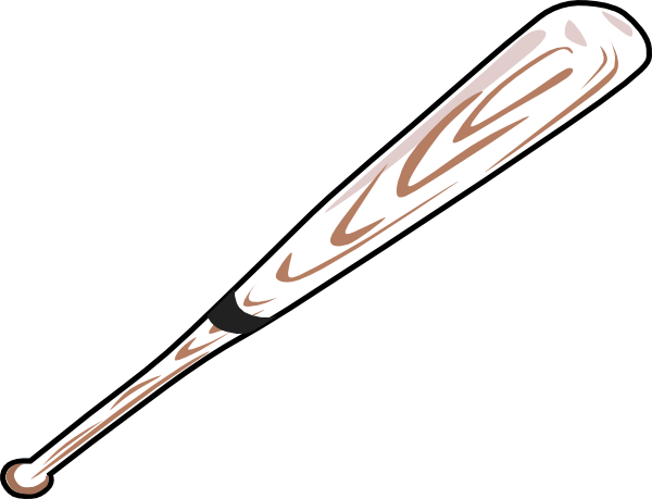 600x459 Small Clipart Baseball Bat