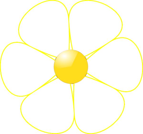 600x564 Yellow Flower Clipart Tiny Flower