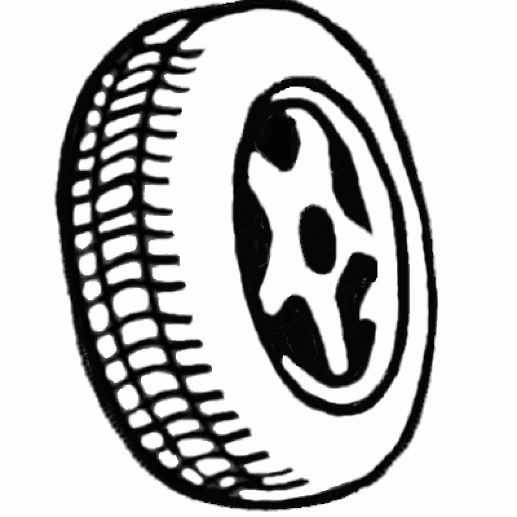 1024x1024 Tires Clipart Black And White