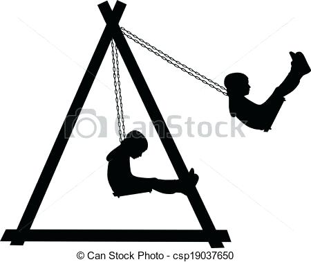 450x378 Swing Clipart Boy Swinging On A Swing In The Park Vector Clipart