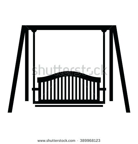 450x470 Swing Clipart Young Girl Sitting On The Swing Vector Clipart