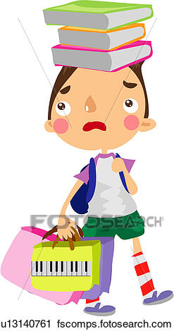247x470 Clipart Of Tired, Backpack, Stress, Holding Bag, School Bag