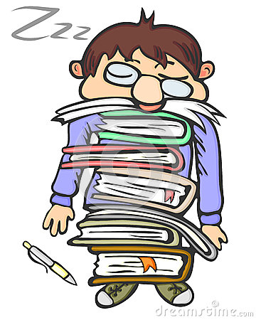 360x450 Tired Student Clipart