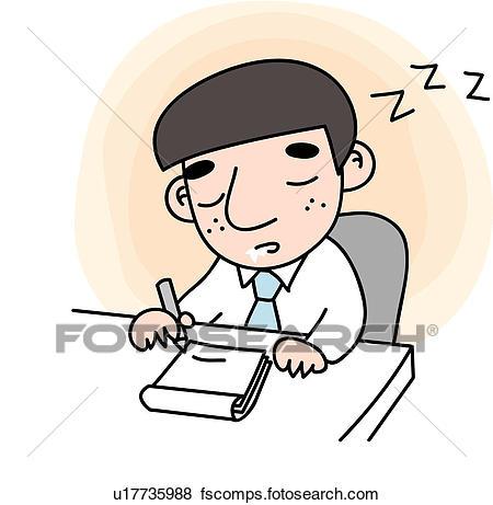 450x461 Clip Art Of Eyes Closed, Tired, Slobber, Snap, Sleep, Businessman