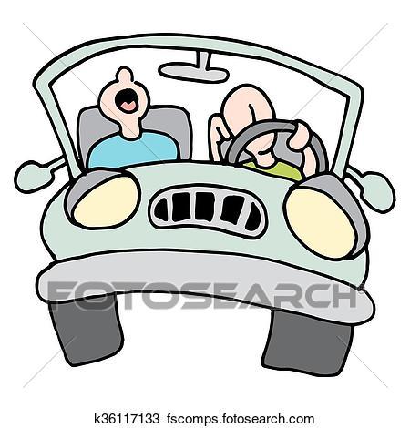 450x470 Clipart Of Long Drive Tired Men K36117133