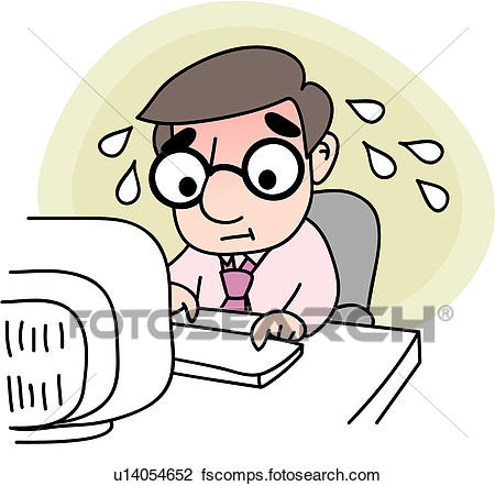 450x442 Clipart Of Job, Office, Tired, Stress, Businessman, Company