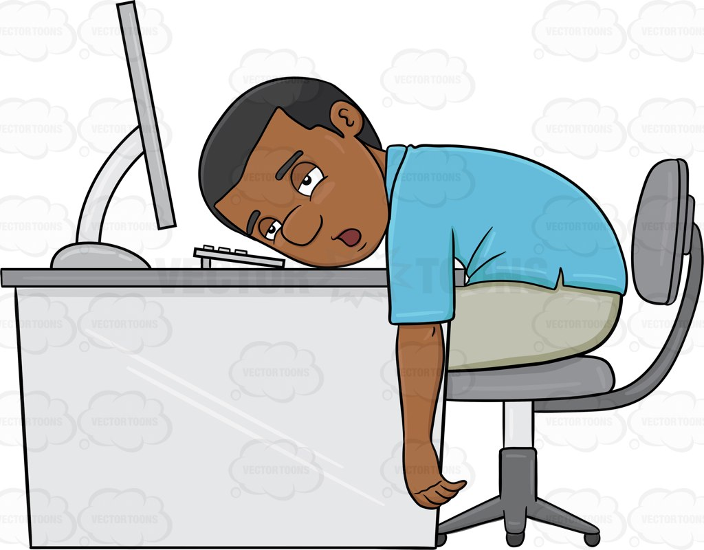 Tired Person Clipart