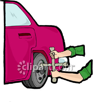 322x350 Clipart Picture Of A Person Changing A Tire