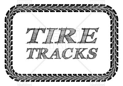 400x280 Tire Tracks Frame Royalty Free Vector Clip Art Image
