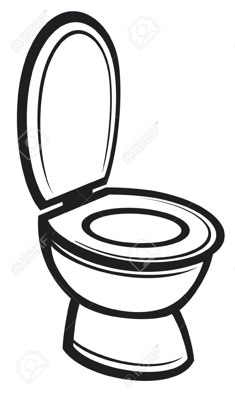 774x1300 Drawn Toilet Clip Art