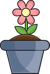 202x300 Flower Pot Clipart Image