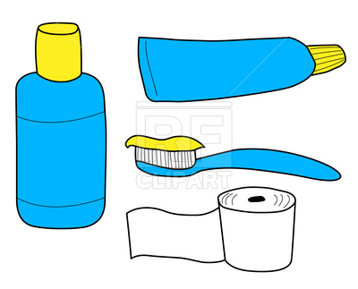 400x323 Tooth Paste, Tooth Brush And Tissue Royalty Free Vector Clip Art