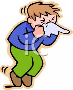 243x300 Young Boy Sneezing In A Tissue