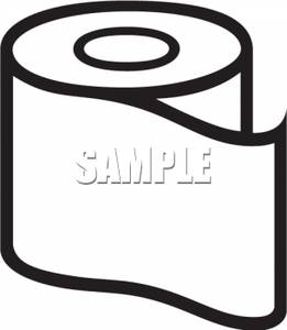 261x300 Black And White Roll Of Toilet Paper