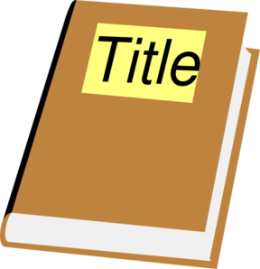 288x298 Book With Title Clip Art
