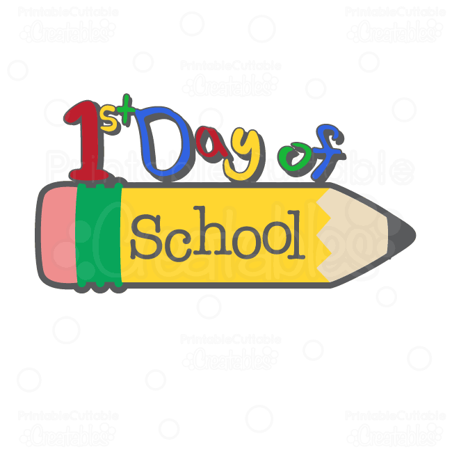 650x650 First Day Of School Title Svg Clipart Panda