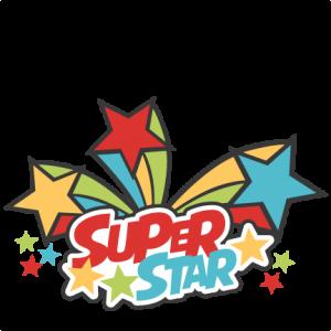 300x300 Super Star Title Svg Cutting Files Scrapbook Title School Svg