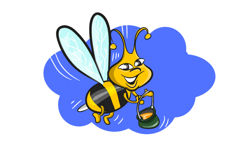 829x483 Flying Bee Free Vector 123freevectors