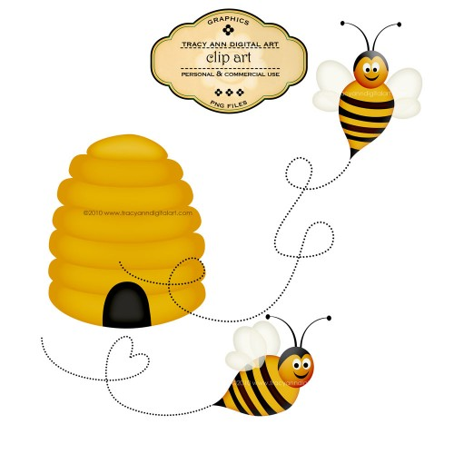 500x500 Graphics For Honey Bee Hive Free Graphics