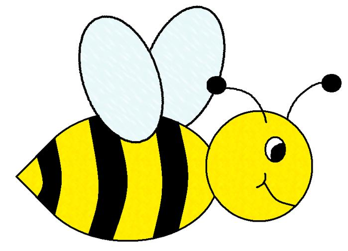 699x505 Bee Black And White Clipart