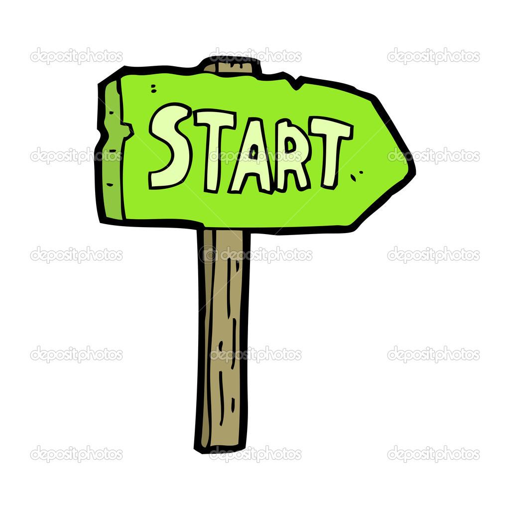 1024x1024 Sign Start Clipart