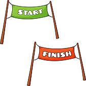169x170 Start Line Clip Art