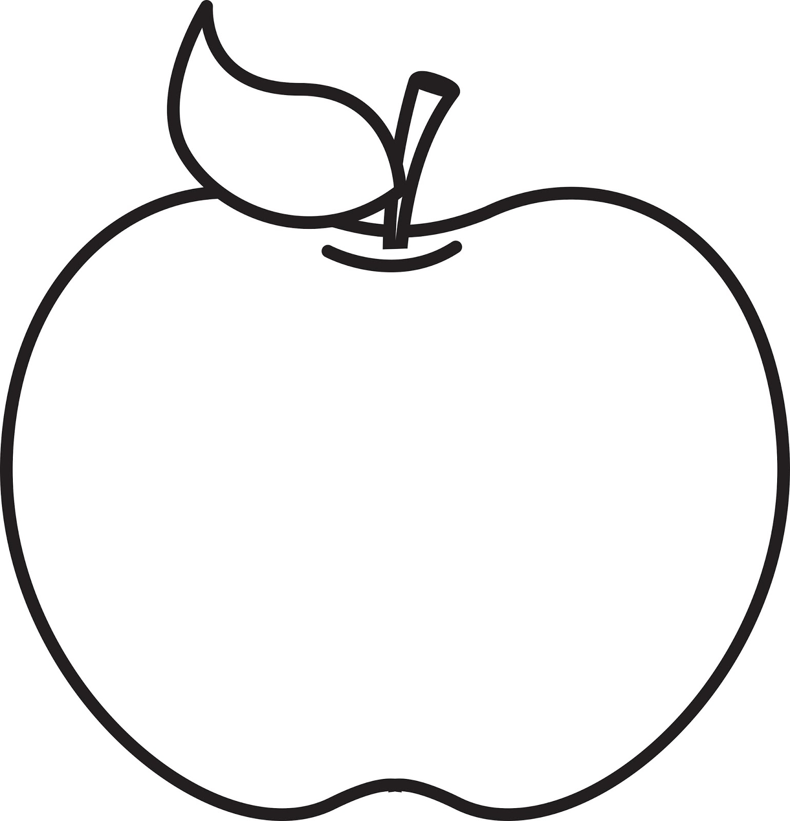 1540x1600 Apple Clipart Bw