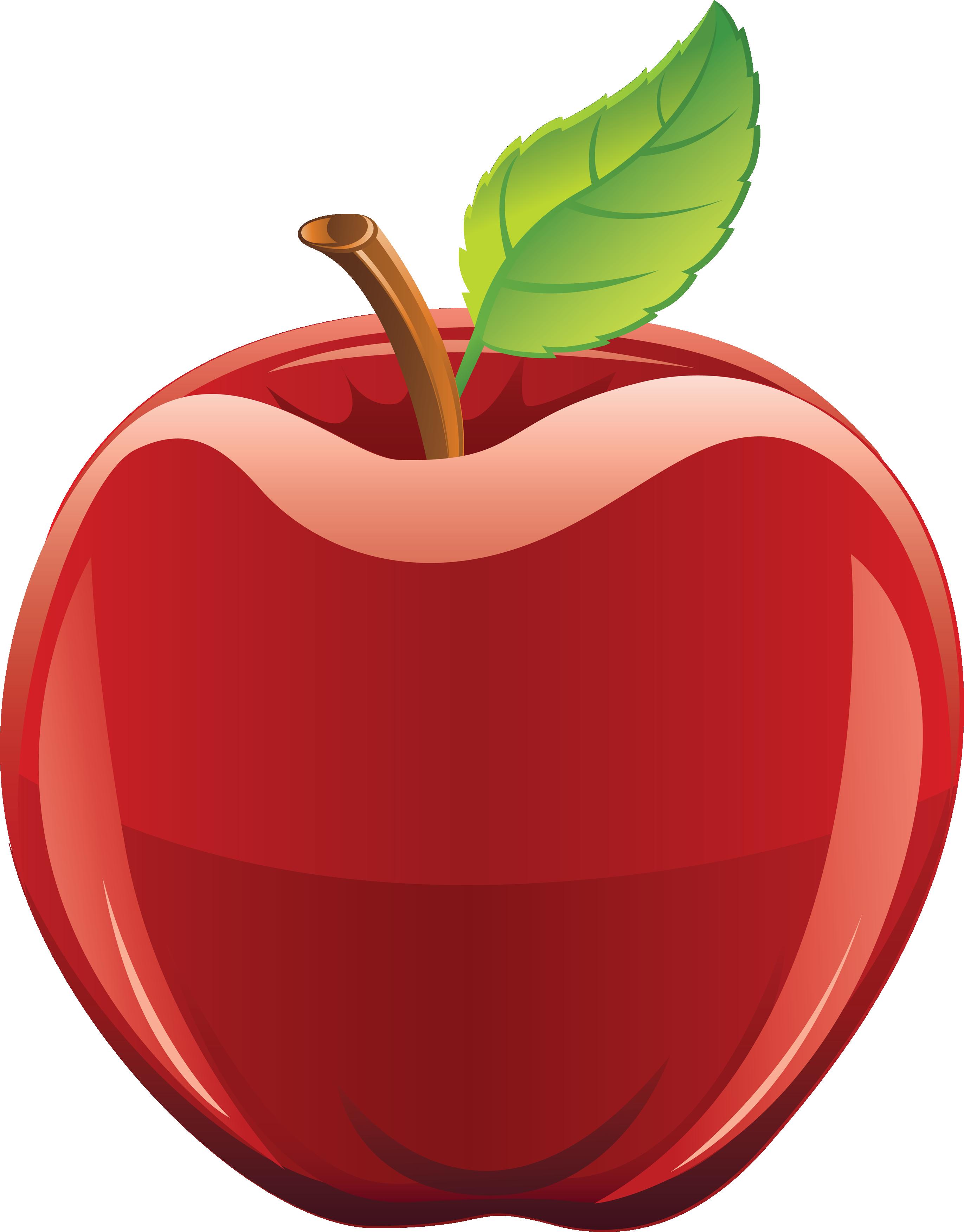 2742x3504 Apple Clipart Dark Red