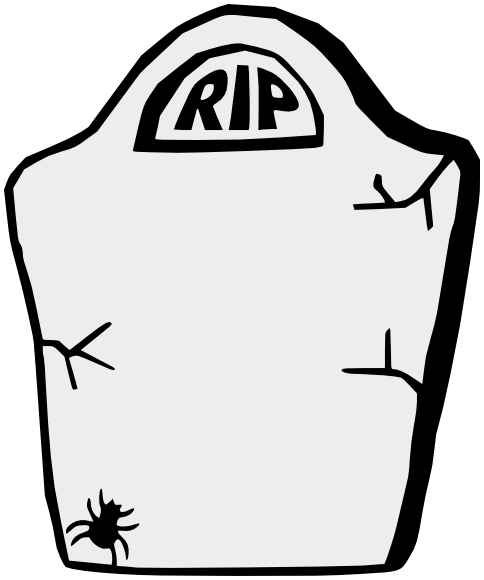 484x580 Headstone Rip Tombstone Clipart Image 2