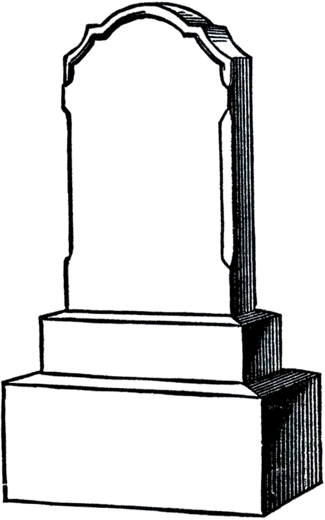 1125x1800 Free Vintage Gravestone Clip Art