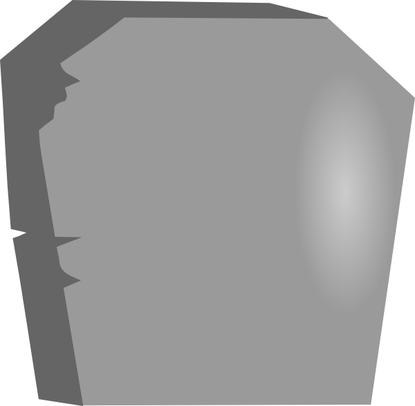 600x588 Tombstone Clipart Outline