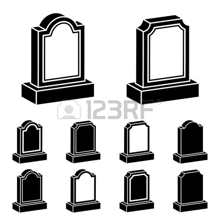 450x450 Tombstone With Candle. Gravestone Flat Icon. Symbol Of Death
