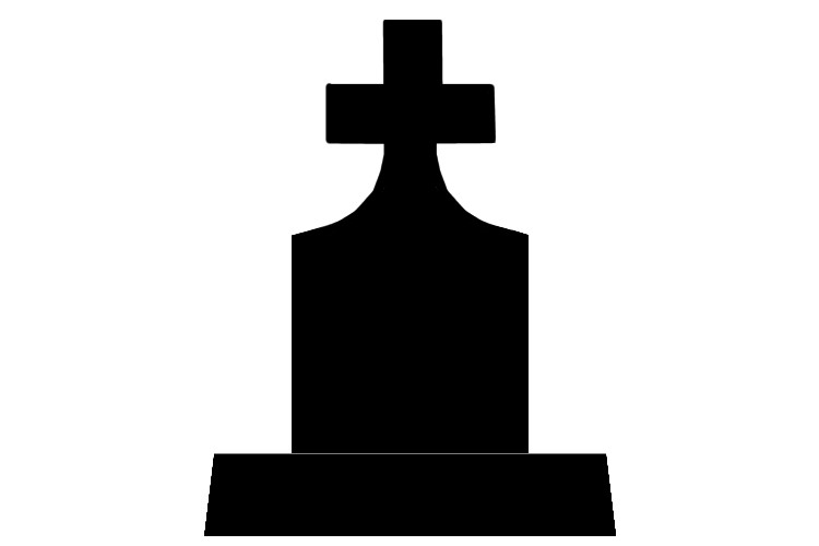 750x500 Tombstone Graphic Clipart