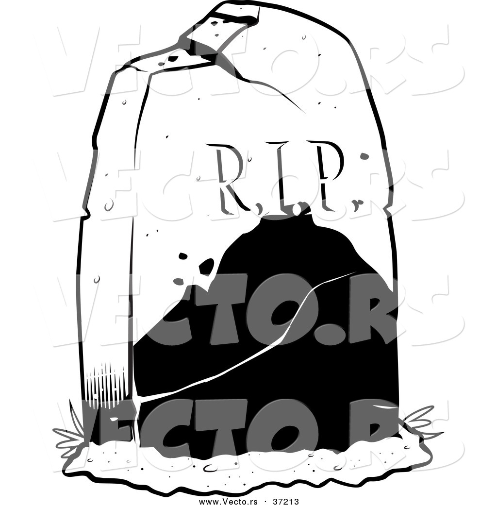 1024x1044 Vector Of A R.i.p. Tombstone In A Cemetery