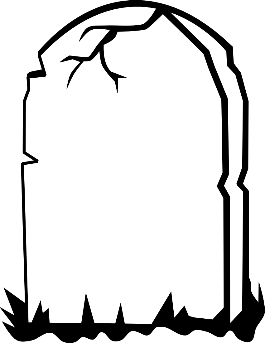 850x1100 Drawn Tombstone Gravestone