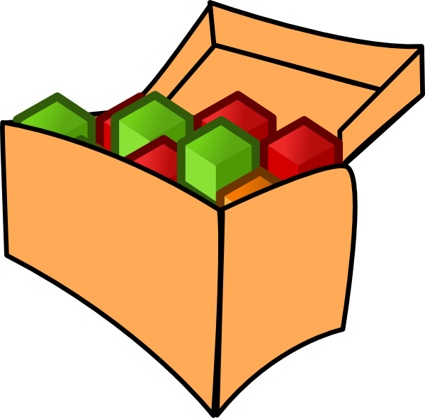 600x591 Tool Box With Cubes Clip Art
