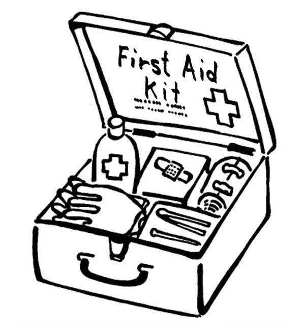 Free Coloring Pages About First Aid: Free Download Best Tool Coloring