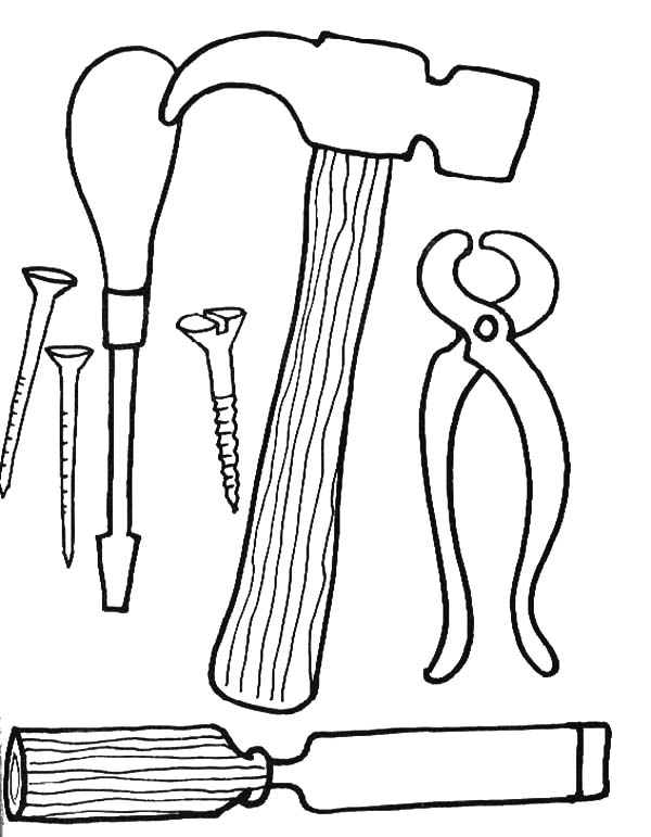 Tool Coloring Pages Free Download Best Tool Coloring Pages